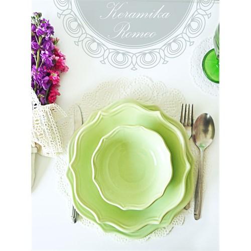 Keramika Takım Yemek Romeo 24 Parça Yeşil Nıl 306 A