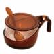 Lazzolli Baharatlık Çift Renk Kaşıklı saklama kabı Kahve