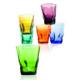 I Love Home 6 lı Renkli Bardak Seti Köşeli