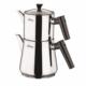 Laviva Eva Çelik Çaydanlık Siyah