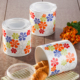 Keramika 3 Parça Saklama Kabı Seti Ege 12 cm Beyaz Renkli Trend