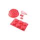 Biev 5 Parça Silikon Kek Seti Kırmızı Güllü