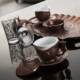 Sena Oval Tiryaki Kahve Takımı İki Kişilik H 15