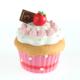 Kanca Ev Koyu Pembe Mini Kutu Cup Cake Beyaz Kremalı Çilekli