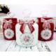 Dekorelle Greengate Kırmızı Beyaz Cam Kavanoz Seti 1 lt.