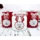 Dekorelle Cupcake 1 lt Kırmızı Beyaz Cam Kavanoz Seti