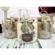 Dekorelle Branches 1 lt Kahve Linen Cam Kavanoz Seti
