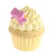 Kanca Ev Sarı Mini Kutu Cup Cake Sarı Kremalı Pembe Fiyonklu