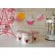 Keramika Set Saklama Kabı Ege 12 Cm 3 Parça Beyaz004-Kırmızı 506 Kera-MiraA