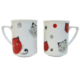 Cats by Luyano 2 Li Kupa Set Kırmızı Kedili