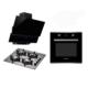 Luxell Black Dream Ankastre Set(LX-4206 Ankastre Fırın + LX-40 TAHDF Ankastre Ocak + LX-730/735 Siyah Davlumbaz)