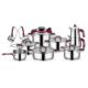 Schafer 18 Parça Compakt Çelik Çeyiz Seti Bordo