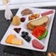 Lucena Kalpli Dokuz Bölmeli Yumurtalıklı Kahvaltı Tabağı - Krem