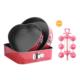 Bien Cook Çelik Teflon Kelepçeli 3 Lü Kek Kalıbı + Bien Krema Pompası Hediyeli