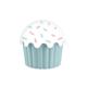 Aroni Cupe Cake Saklama Kabı - Mavi 550 Ml