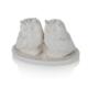 Porio M66-151 - Beyaz Baykuşlu Tuzluk Biberlik 11Cm