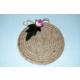 Şahika Tasarım - Pembe Çiçekli Urgan Halat Dolamalı Bardak Altlığı