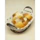 Kitchen Love Metal -Oval- Bezli Ekmek Sepeti