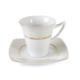Cutechef Kitchen Porselen Gold Noktalı Kare Çay Takımı