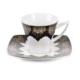 Cutechef Kitchen Porselen Siyah Kare Kahve Takımı