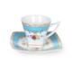 Cutechef Kitchen Porselen Turkuaz Kare Kahve Takımı