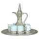 Çağ Deccor Gümüş Porselen Fincanlı Zemzem Takımı