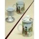 Kitchen Love Porselen Süzgeçli-Kapaklı Bitki Çayı Kupası