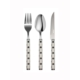 Kitchen Love 3 Adet Dekoratif Saplı-Tatlı-Kaşık,Çatal,Bıçak