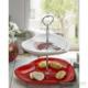 Keramika Set Meyvalık Kalp 2 Katlı Beyaz 004-Kırmızı 506 Red Love Keramira A