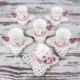 Mukko Home 6 Kişilik Lüks Porselen Kelebek Fincan Takımı - Pembe