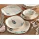 Keramika Takım Yemek Köşem 24 Parça Krem 030 Retro A