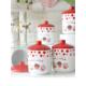 Keramika Takım Baharat Kosem 10 Cm 10 Parca Beyaz004-Kırmızı 506 Fruıt Cake A