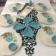 Keramika Turkuaz Gül 6 Kişilik Kahvaltı Takımı