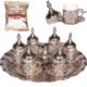 Sultan Motifli 6 Kişilik Kahve Seti (Tepsi ve Lokumluk Hediye)