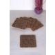 Queen'S Kitchen 6 Adet Kare Mantar Bardak Altlığı