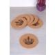 Queen'S Kitchen 6 Adet Yuvarlak Mantar Bardak Altlığı