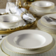 Kütahya Porselen Bone İron 24 Parça Fileli Yemek seti