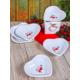 Keramika Set Çerezlik Kalp 14 CM 6 Parça 4. Vers. Beyaz 004 Keramika Dolu Kalp