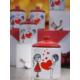 Keramika Takım Baharat Köşem 8 CM 10 Parça Beyaz 004-Kırmızı 506 Keramika Dolu Kalp