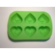 d-sign home Silikon Kek Kalıbı 6'lı Kapli - Yeşil