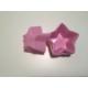 d-sign home 6'lı Yıldızlı Mini Kek Kalıbı -Pembe