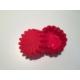 d-sign home 6'lı Papatya Mini Kek Kalıbı-Kırmızı