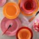 Kütahya Porselen Natura Ceram Athena 24 Parça 6 Kişilik Turuncu Yemek Seti