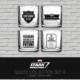 Sd Toys 4'Lü Bardak Seti Marvel Stark Industries Set #1