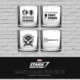 Sd Toys 4'Lü Bardak Seti Marvel Stark Industries Set #2