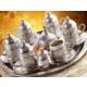 Toptancı Kapında Osmanlı Motifli 6 Kişilik Türk Kahve Seti - Gümüş