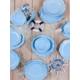 Keramika 24 Parça 6 Kişilik Romeo Buz Mavisi (405) Yemek Takımı