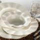 Kütahya Porselen Milena Krem Porselen Fileli 24 Parça Yemek Takımı
