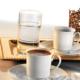 Kütahya Porselen Zümrüt 6 Kişilik Su Bardaklı Kahve Fincan Takımı