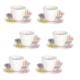 Loveq Kahve Takımı 12 Parça (Tabak 10X10 / Fincan 8,5X6X5 Cm) Drn-29462